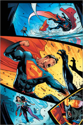 Premium-Poster  Superman Comic Strip