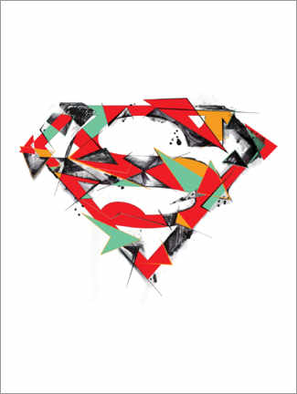 Premium-Poster  Superman Logo Shield