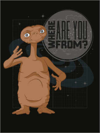Premium-Poster  E.T. - Where Are You From?