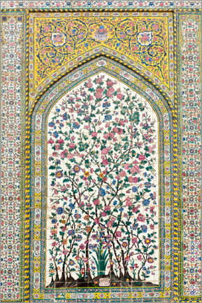 Holzbild  Florales Muster, Wakil Moschee - Stefan Auth