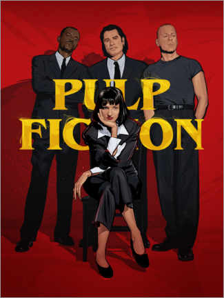 Premium-Poster Pulp Fiction Gang