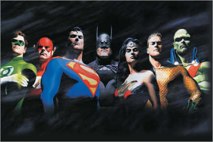 Premium-Poster  Justice League - The Original Seven