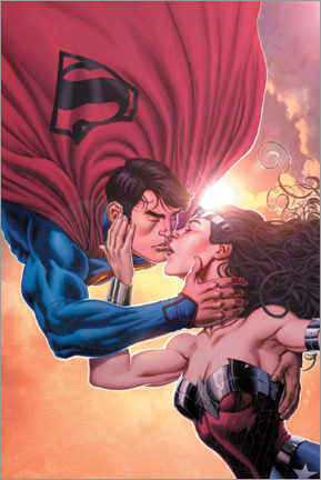 Premium-Poster  Superman und Wonder Woman