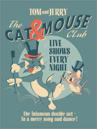 Gallery Print  Tom and Jerry - Cat and Mouse Club