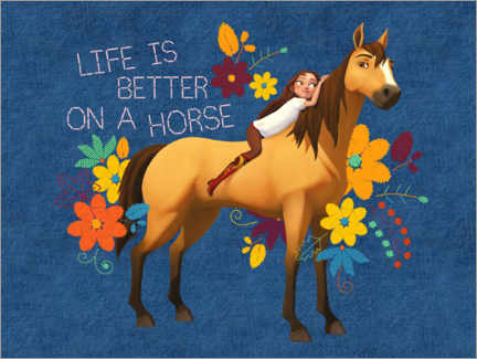 Wandsticker  Life is better on a horse