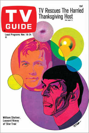 Premium-Poster  Star Trek - Retro Cover 1967 - TV Guide