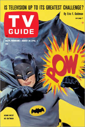 Premium-Poster  Batman - TV Guide Cover 1966 - TV Guide