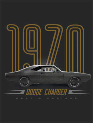 Wandsticker  Dodge Charger 1970