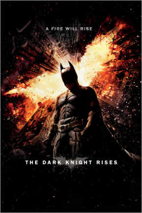 Premium-Poster  Batman - A fire will rise