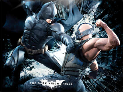 Premium-Poster  The Dark Knight Rises 2012: Batman & Bane
