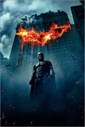 Premium-Poster  The Dark Knight Rises - Burning Bat