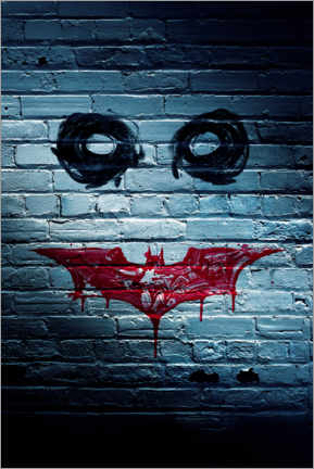 Premium-Poster  Batman The Dark Knight - Joker face