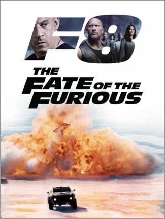 Wandsticker  The fate of the furious