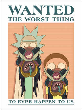 Wandsticker  Rick and Morty - The worst thing