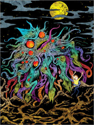 Holzbild  Rick and Morty - Monster Moon
