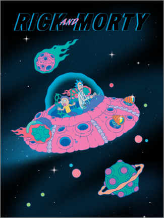 Premium-Poster  Rick and Morty - Space Ship