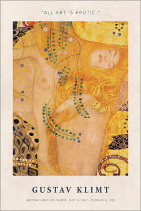 Gallery Print  Gustav Klimt - Art is erotic - Museum Art Edition