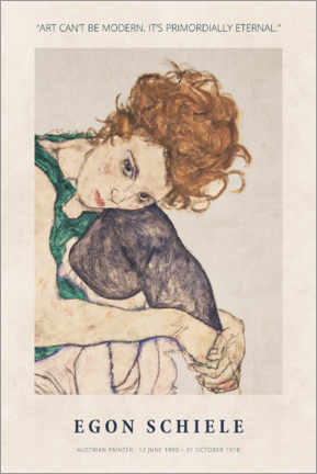 Hartschaumbild  Egon Schiele - Primordially eternal - Museum Art Edition