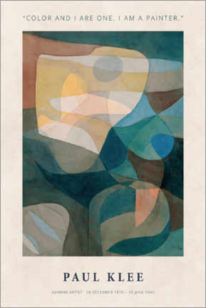 Hartschaumbild  Paul Klee - Color and I - Museum Art Edition