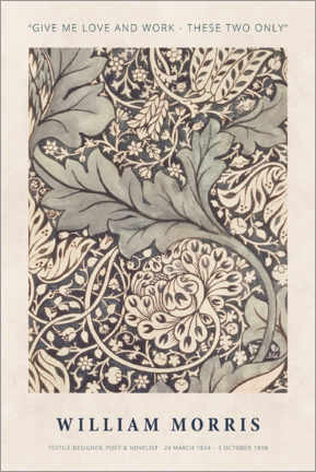Hartschaumbild  William Morris - Love and work - Museum Art Edition