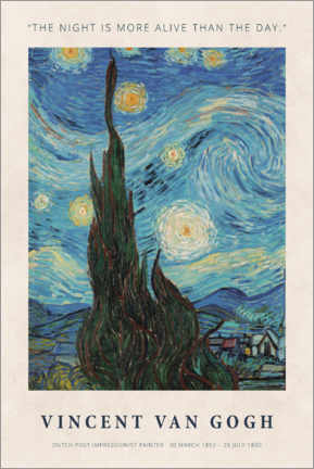 Alubild  Vincent van Gogh - The night - Museum Art Edition