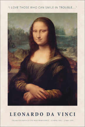 Gallery Print  Leonardo da Vinci - Smile in Trouble - Museum Art Edition