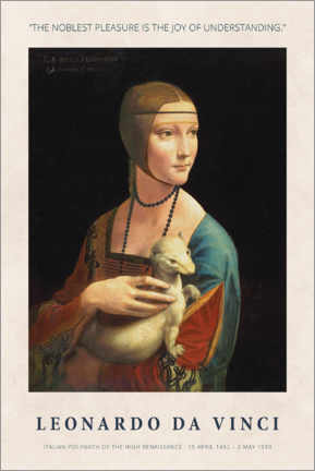 Wandsticker  Leonardo da Vinci - The joy of understanding - Museum Art Edition