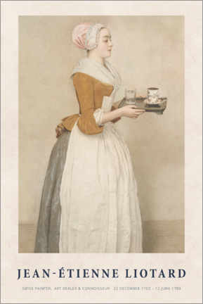 Alubild  Jean-Étienne Liotard - The Chocolate Girl - Museum Art Edition