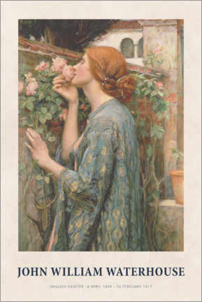 Premium-Poster  John William Waterhouse - The Soul of the Rose - Museum Art Edition