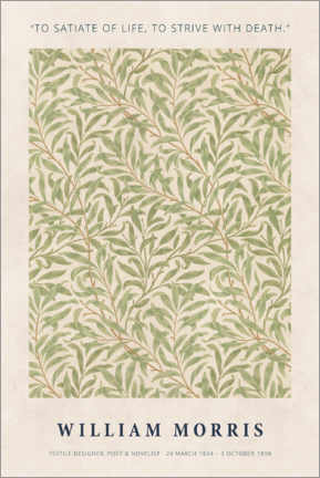 Holzbild  William Morris - Satiate with life - Museum Art Edition