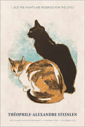 Gallery Print  Théophile-Alexandre Steinlen - Reserved for the cats - Museum Art Edition