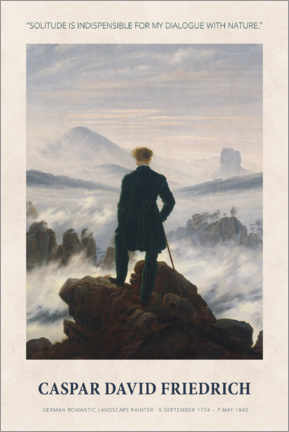 Holzbild  Caspar David Friedrich - Dialogue with nature - Museum Art Edition