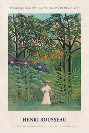 Wandsticker  Henri Rousseau - Not belong to my century - Museum Art Edition