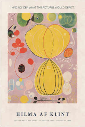 Alubild  Hilma af Klint - I had no idea - Museum Art Edition