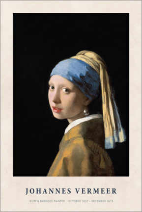Acrylglasbild  Jan Vermeer - Girl with a Pearl Earring - Museum Art Edition