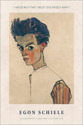 Alubild  Egon Schiele - I am so rich - Museum Art Edition