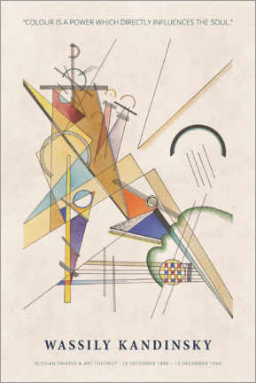 Holzbild  Wassily Kandinsky - Colour is a power - Museum Art Edition