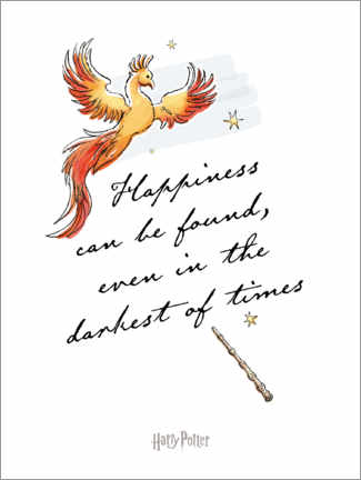 Premium-Poster Happiness can be found - Harry Potter Zitat (englisch)