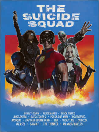 Gallery Print  The Suicide Squad Movie Art
