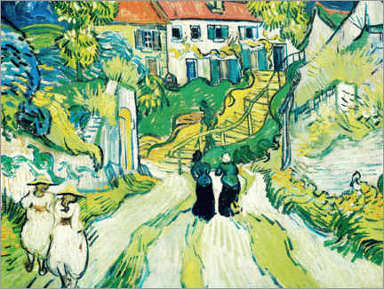Gallery Print  Treppe in Auvers - Vincent van Gogh