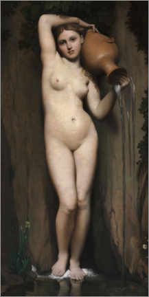 Wandsticker  Die Quelle - Jean Auguste Dominique Ingres