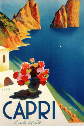 Holzbild  Italien ? Sommerinsel Capri - Travel Collection