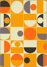 Wandsticker  panton orange - Mandy Reinmuth