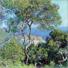 Holzbild  Bordighera - Claude Monet