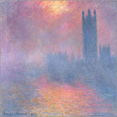 Wandsticker  Westminster - Claude Monet