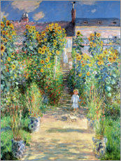 Claude Monet - Garten in Vetheuil