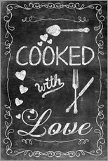 Wandsticker  Cooked with Love - Andrea Haase