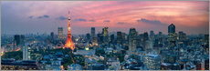 Wandsticker  Tokio Skyline - Jan Christopher Becke