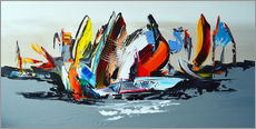 Gallery Print  Abstract sailing - Theheartofart Gena