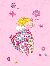 Gallery Print  Blumenprinzessin - Fluffy Feelings